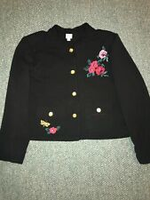 Woman's A.n.d e a w y  Embroidery Golden Buttons Jacket Sz 18