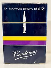 Vandoren Soprano Sax #2 Traditional Blue Box of 10 - Old Packaging