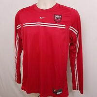 NIKE NW NATIONALS SOCCER #9 Shirt Men's Size Small S Red Long Sleeve
