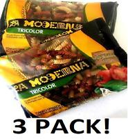 3 - 12 oz LA MODERNA Rotini Pasta Tri Color w/ Tomato & Spinach Macaroni - Rare!