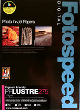 Fotospeed Pigment Friendly Lustre 275gsm Inkjet Photo Paper A4 100 Sheets