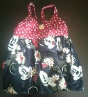 Hand Made Mickey Mouse Infant Dress Tank Floral Girl purchased from Etsy