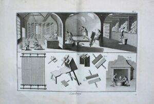 Textilindustrie Baumwolle Stoff Weberei Weaving Mill Kardieren Handkarde Cardage