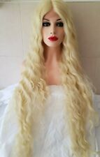 Swiss Lace, Human hair wig, Blonde Lace Front Wig hand knotted, bleach blonde