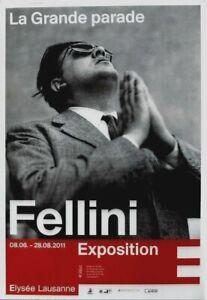 Original vintage poster FELLINI PHOTO EXHIBITION LAUSANNE