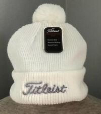 Nwt! Titleist Winter Pom Pom White Unisex Hat
