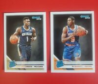 ZION WILLIAMSON & RJ BARRETT ROOKIE LOT 2019-20 Donruss Rated (not optic) DUKE !
