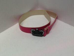 Girls Fashion Belt For Waist Sizes 20 - 24 Pink Width 1.25 Bling Buckle F44E