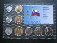 More details for slovenia 1992 ~ 2004 9 coin collection set: 10 stotinov - 50 tolarjev - coa card