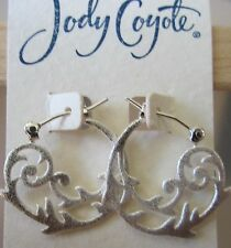 Jody Coyote Earrings JC0460 new Nouveau NU-0911-12 hoop silver hypoallergenic