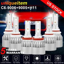 Combo 9005 + H11 + 9006 LED Headlight Kit Hi/Low Beam Bulbs 6000K White 585000LM