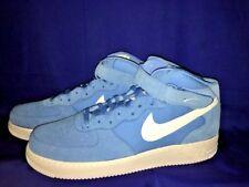 NIKE AIR FORCE 1 Michael Jordan CAROLINA BLUE HI TOP BASKETBALL Shoes MENS Sz 17