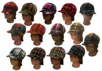 Ladies Trendy Herringbone Newsboy Cabbie Applejack 8 Panel Women Plaid Hat