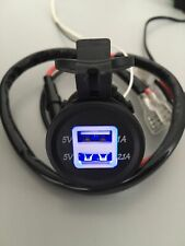 12V USB Dual Car Cigarette Lighter Socket Charger Power Adapter 60cm Cable Fuse