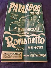 Partition Payardor Le Duo Nicoli Romanetto Castellengo