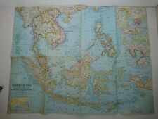 NATIONAL GEOGRAPHIC MAP May 1961 SouthEast Asia Plate 49
