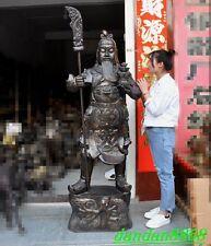 """72"""" huge china bronze Big knife Dragon warrior Generals guan gong guan yu statue"""