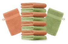 Betz lot de 10 gants de toilette Premium: vert pomme & orange, 16 x 21 cm, coton