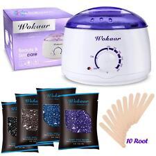 Hair Removal Waxing Kit Electric Hot Wax Warmer Applicator Sticks 3.5Oz Wax Bean