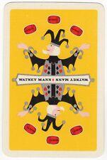 Playing Cards 1 Swap Card Vintage WATNEY MANN Brewery RED BARREL Beer Juggler #1