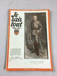Original Revue Je sais Tout Illustré N° 146 de 1918 Editions Pierre Lafitte