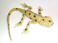Vintage 2000 Imperial Soft Rubber Lizard Toy Bead Filled Spotted Yellow