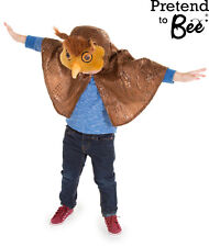 KIDS CHILDRENS CHILDS BROWN OWL BIRD BOOK DAY CAPE COSTUME OUTFIT AGE 3-4-5-6