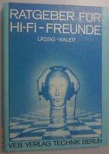 Ratgeber für HiFi Freunde Lässig Wauer 1988 1.Auflage DDR-Technik-Fachbuch