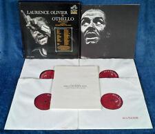 OTHELLO - LAURENCE OLIVIER - RCA VDS-100 - (4) LP BOX SET, CAST + TEXT BOOKLETS