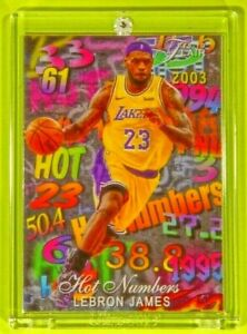 Flair Hot Numbers LeBron James Special All Time King Lakers Legend Mint Card MVP