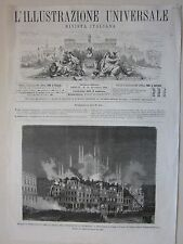 1875 MILANO DEMOLIZIONE REBECCHINO xilografia Illustrazione Universale