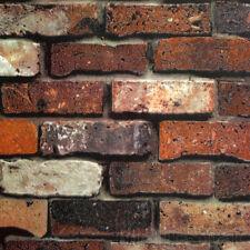 10M Red Brick Wall Paper PVC 3D Concavo-convex Clothing Store Retro Wallpaper