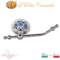 Arredo Bagno Porta rotolo in Ceramica Vietri fatto a mano 100% made in italy