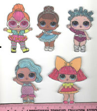 LOL Surprise DOLLS FABRIC wall stickers 9pc BIG SISTERS Splash Queen Kitty Queen