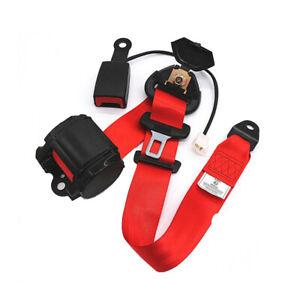 Universal Adjustable Retractable Car Ven RV Seat Belt Lap Diagonal Belt 3 Point