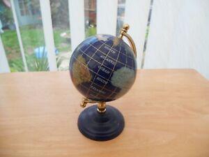 Semi-Precious Stone and Brass Globe