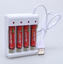 AA/AAA lithium-ion rechargeable Battery USB 4 Slots Intelligent Battery Charger