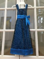 Beautiful IN Girl Kids Size 5 Blue/ Black Sparkling Dress, Great Condition