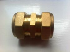 28 x 28 mm Brass Plumbing Pipe Compression Straight Coupler Joiner