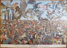 Erro Affiche originale quadri signée numérotée 1981 Zurich Erró Gudmundur Art