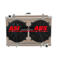 3 Row Radiator For 94-03 Nissan Silvia S14 S15 SR20DET 180SX 200SX MT Shroud Fan