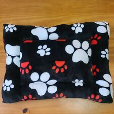"""Dog Bed Paw Print Design 21"""" X 15.5"""" teacup toy puppy small dog Euc"""