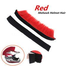 Adhesive Stick On Mohawk Helmet Hair DIY Racing Motorcycle Bike Skateboard Red