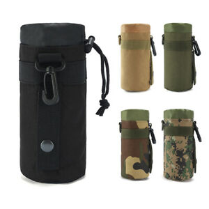 Tactical Molle Water Bottle Pouch Bag Outdoor Hiking Kettle Carrier Bag Holder