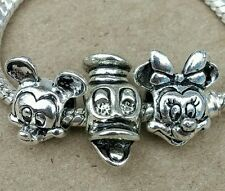 Disney Minnie Mickey Mouse Portrait Donald Duck Head Face European Beads Charms