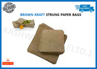 Brown Kraft Strung Paper Bags Food Sandwich Grocery Gift Retail