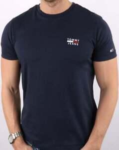 Tommy Jeans Men's Chest Logo T-shirt Navy - short sleeve jersey crew neck tee