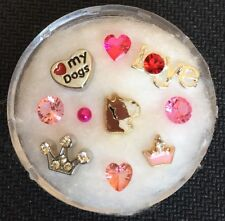 Floating Charm Set~*~Love My Dog Boxer Princess Paws!~*~for Living Memory Locket