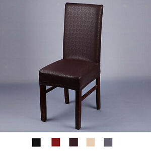 PU LEATHER CHAIR COVER WEDDING RESTAURANT DECORATIONS SLIPCOVER  SIZE