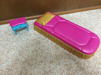Barbie Doll The Diamond Castle Princess Bed Nightstand Table Bedroom Furniture